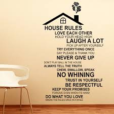 Shop Walplus English House Rule Peel And Stick Wall Sticker Wall Decor Overstock 31908625