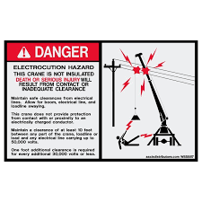 Electrocution Hazard Safety 5x8 W85887 Vinyl Decals Aaxis Distributors