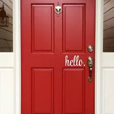 Hello Front Door Vinyl Decal E 005b Back40life