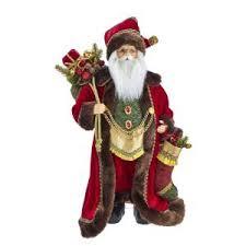 kringle klaus santa w red coat bag of