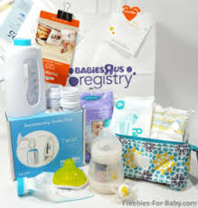 top list for baby registry freebies