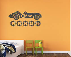 Race Car Wall Decal Custom Name Wall Decal D00015 Etsy Vinyl Wall Decals Nursery Kids Wall Decals Wall Decals For Bedroom