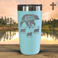 Blessed Mama Bear Personalized Tumblers Faithabove