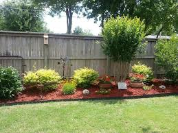Back Or Possible Side Yard Landscaping Idea Privacy Fence Landscaping Backyard Landscaping Designs Fence Landscaping