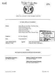 RECEIVED - Special Court for Sierra Leone