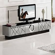 modern black and silver mirrored tv
