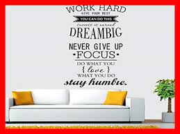 Decals Stickers Vinyl Art Work Hard Dream Big Stay Humble Removable Wall Decal Quote Stickers Decor Art Home Decor Fibsol Com