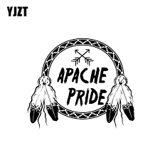 Yjzt 18cm 15 1cm Apache Pride With Arrows In Dream Catcher Round With Feathers Vinyl Decal Car Sticker Black Silver C10 02284 Car Stickers Aliexpress