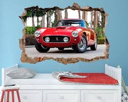 Ferrari 250 Gto Vintage Cars Wall Decal Classic Housewares Homedecor Etsymktgtool Ferrari250gto Vintagecars Car Wall Art Ferrari Poster Boys Room Wall Art