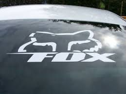 Large 24 Fox Racing Vinyl Window Decal Cars Trucks Mx Motorcycle Atv Boat Ebay