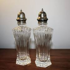 shabby chic shakers crystal cut glass