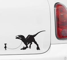The Decal Store Com By Yadda Yadda Design Co Car Dinosaur Pet Child With Velociraptor Car Truck Atv Vinyl