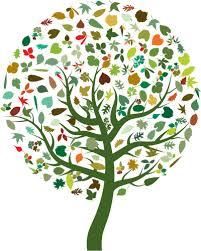 Árvore abstrata colorida | Vectores de Domínio Público