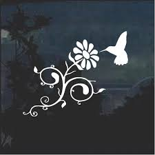 Hummingbird And Daisy Flower Window Decal Sticker A2 Custom Sticker Shop