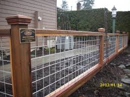 Pin By Staci Barnett On Jardins Hog Panel Fencing Front Yard Fence Wire Fence Panels