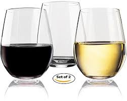 plastic stemless wine glasses 20 oz