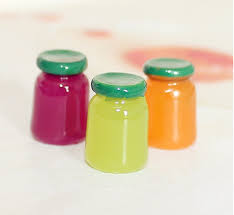 50pcs lot 10 15mm mixed colour jam jars