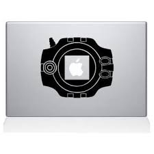 Amazon Com Digimon Pokemon Macbook Vinyl Decal Sticker Skin For Macbook Laptop In Black Computers Accessories