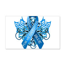 I Wear Blue For My Daughter Wall Decal By Magik Cafepress