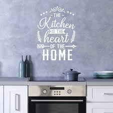 Amazon Com Kitchen Wall Decal The Kitchen Is The Heart Of The Home Extra Large 22 In W X 30 In H Wall Stickers For Kitchen Or Dining Room Design