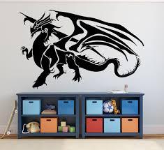 Dragon Wall Decals Fantasy Wall Decor Medieval Dragon Customvinyldecor Com