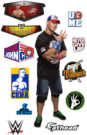 Amazon Com Fathead John Cena Life Size Officially Licensed Wwe Removable Wall Decal Multicolor Home Kitchen