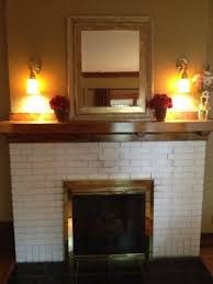 removing paint from fireplace brick