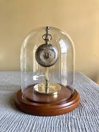 pocket watch display dome 4 1 2 x 8