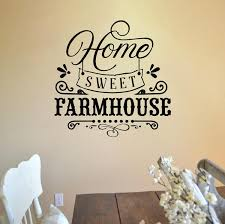 Farmhouse Wall Decal Sticker Home Sweet Farmhouse Decals Market