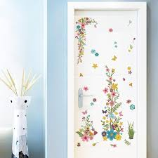 Colorful Flowers Vine Wall Stickers Home Decor Cabinet Closet Computer Tattoos Decals Living Room Decorative Wall Graphic Art Mural Poster Wall Decals For Girls Room Wall Decals For Home From Magicforwall 8 8