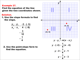 math example the equation of a line