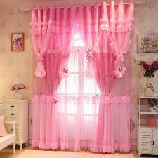 Romantic Pink Purple Lace Curtains For Living Room Princess Kids Bedroom Window 50 Blackout Curtain For Wedding Decor Tulle 2pc Curtain Door Curtain Home Decor Window Curtain At 164 80 194 80