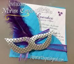 Invitaciones 15 Anos Bodas Cumpleanos Mascara Carnaval