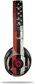Amazon Com Skin Decal Wrap For Beats Solo 2 And Solo 3 Wireless Headphones Painted Faded And Cracked Red Line Usa American Flag Beats Not Included Home Audio Theater