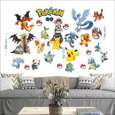 Pokemon Go Wall Stickers For Bedroom Boys And Girls Wall Mural Etsy