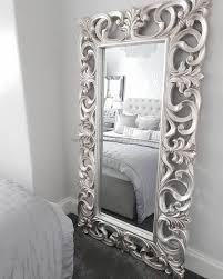 silver leaf floor mirror living room