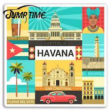 Jump Time Havana Vinyl Stickers Cuba Cool Travel Sticker Laptop Luggage Waterproof Car Decal Window Bumper Auto Accessories Car Stickers Aliexpress