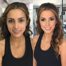 brunette before and after makeup and