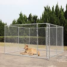 Coziwow Dog Fence 10 X 10 Ft Heavy Duty Outdoor Chain Link Dog Kennel Enclosure W Door Walmart Com Walmart Com
