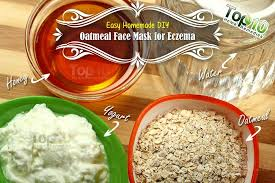 easy homemade diy oatmeal mask for