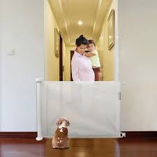 Super Promo F053d1 Tall Pet Dog Gate Retractable Safety Guard Foldable Toddler Stair Gate Isolation Ingenious Mesh Dog Fence Indoor Outdoor Cicig Co