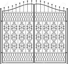 Wrought Iron Gate Door Fence Window Grill Railing Design Royalty Free Cliparts Vectors And Stock Illustration Image 31974172