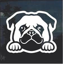 Pug Peeking Dog Window Decal Sticker Dog Window Window Decals Dog Skeleton