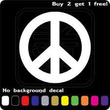 Peace Sign Logo Sticker Vinyl Decal Love Hippie Symbol Car Window Buy2get1free Ebay