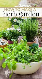 how to make your own herb garden home