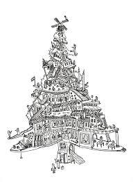 Tekening Kerstboom Kerst Kerst Kaarten Kerst Knutselen