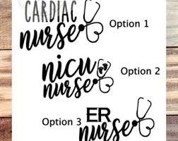 Er Nurse Decal Etsy