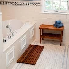 teak shower bench with stylish design