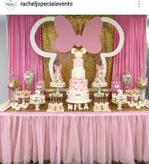 Minnie Mouse Birthday Party Dessert Table And Decor Con Imagenes