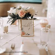 gold glass frame table numbers